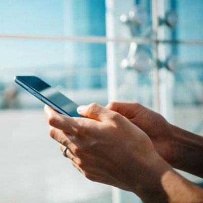 تایپ با موبایل